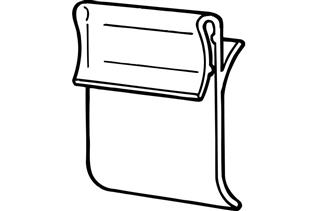 GCO Shelf Channel Sign Holder