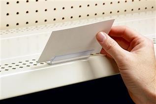 SuperGrip® Flip-Up Flush Sign Holder