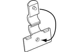 FO-301 Fold-N-Hold® Flush Sign Holder for Wire