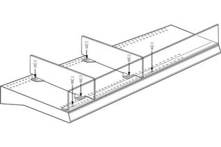 Universal Front Fence and Rectangular Divider