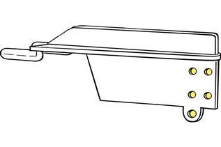 9510 Tri-Barker 90 Degree Shelf Bracket