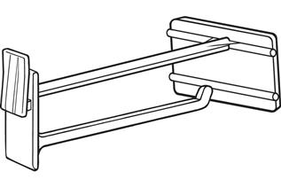 Display Hook with Scan Plate for Corrugated