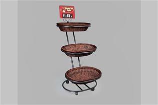 Three-Basket Mobile Merchandiser