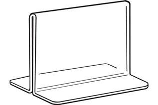 Acrylic Bottom-Load Sign Holder