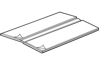 Extruded Hinge with Adhesive
