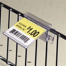 Wire Basket Price Tag Holder with Grip Track