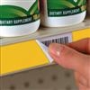 "Non-Adhesive Label-Release® for ""C"" Channel Shelving"