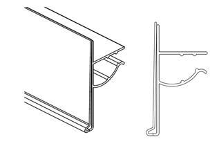 Data Strip® for Single Wire Freezer Shelves