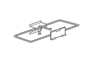 Plastic Guarded J-Hook with Channel Mount