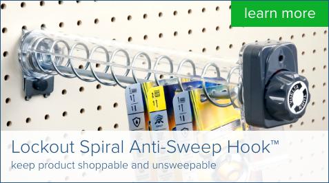 spiral anti-sweep hooks