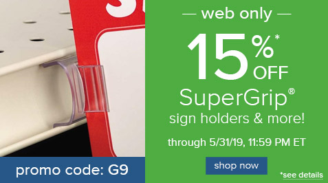 15% Off SuperGrip and More!