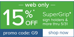 15% Off SuperGrip and more