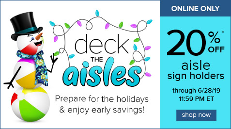 20% Off Aisle Sign Holders