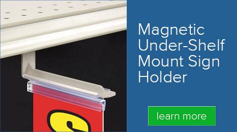 Magnetic Under-Shelf Mount Sign Holder