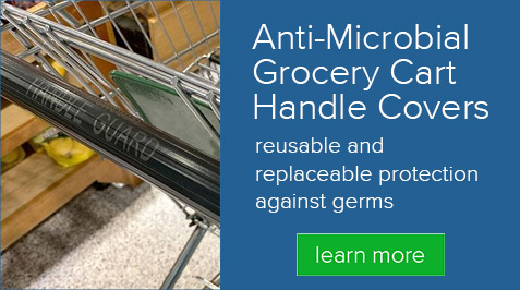 Anti-Microbial Grocery Cart Handle Covers