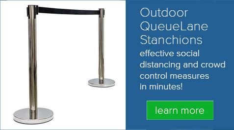 Outdoor QueueLane Stanchions