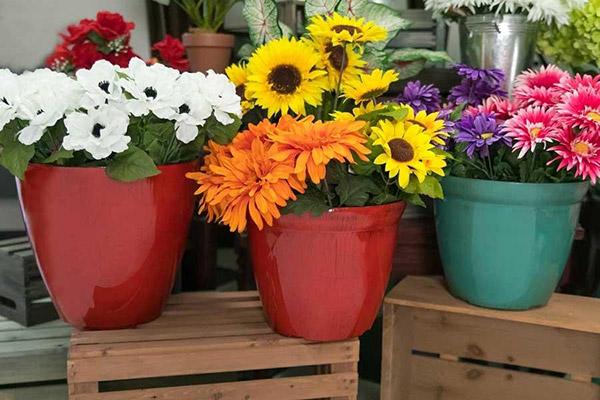 Designer Floral Bucket